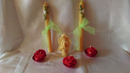 20. Восковая церковная свеча для свадьбы, крещения и др. христианского праздника