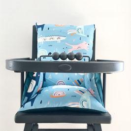 Coussin de chaise haute blue