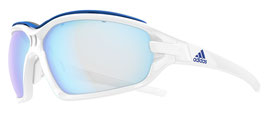 Adidas Evil Eye Evo Pro White Shiny - Vario Blue Mirror