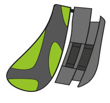 Rudy Project Tralyx Nasenpad & Halter Lime/Grey/Graphite