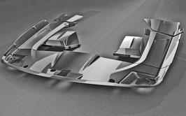 Mercedes SLS AMG Carbon Motorraumabdeckung 8-teilig
