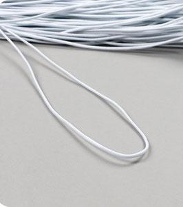 Weißer Rundgummi für Alltagsmasken