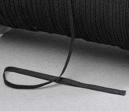 Schwarzer Flachgummi für Alltagsmasken