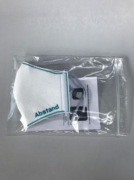 Einzelverpackung für Vlies- und Stoff-Masken.