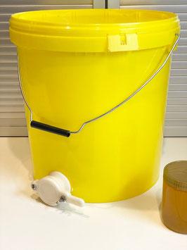 Honig Abfülleimer 25kg mit Quetschhahn und Deckel
