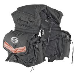 Sacoches triples pour bât de randonnée avec gourdes