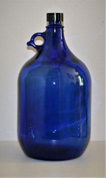 Bouteille en verre bleu cobalt 5 L vierge