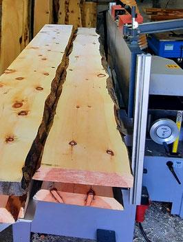 Zirbenholz Bohlen 50mm, abgerichtet und beidseitig gehobelt!
