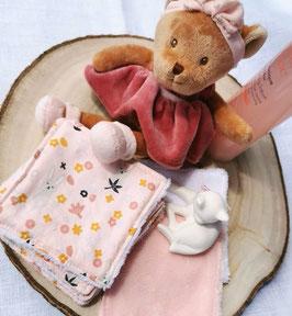 Lingettes lavables petits lapins