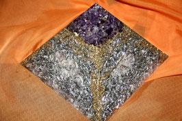 Orgonit Pyramide Groß - Sonderkonstruktion Glasklar