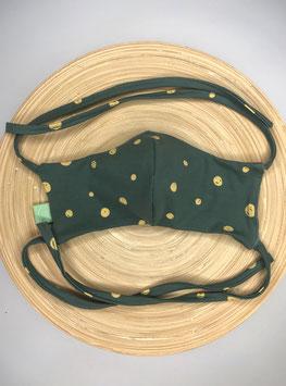Mimor green dots face mask