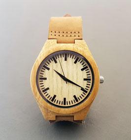♥ Holz-Leder-Armbanduhr Bambus I ♥