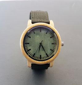 ♥ Holz-Textil-Armbanduhr Bambus ♥