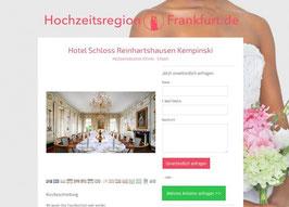 Anbieter-Präsenz auf Hochzeitsregion-Frankfurt.de