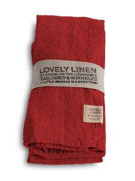 Lovely Linen real red