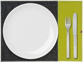 Tischset zweifarbig pistazie-anthrazit