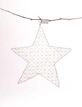 Drahtwabenstern merry christmas (silber)