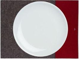 Tischset zweifarbig anthrazit- rubinrot
