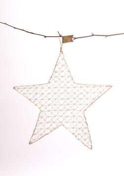 Drahtwabenstern merry christmas (gold)