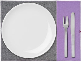 Tischset zweifarbig lila-anthrazit