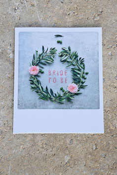 Polaroidkarte | Bridetobe