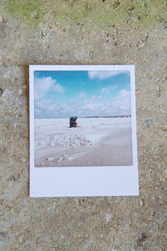 Polaroidkarte | Strandkorb