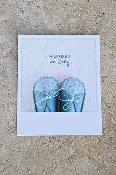 Polaroidkarte| Geburt Junge