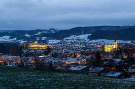 """Bild """"Burgdorf bei Nacht"""""""