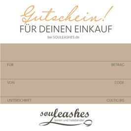 Geschenkgutschein bei Souleashes.de