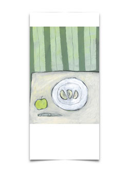Drei Apfelscheiben