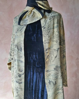 Longue jacket et écharpe