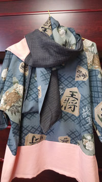 Tunique robe et grande écharpe