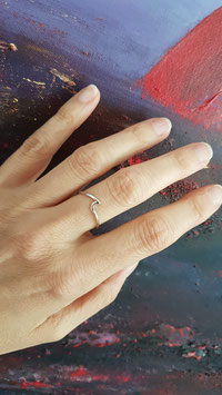 Silber Wave Ring