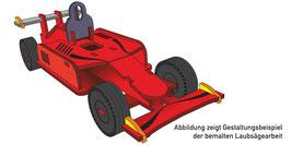 Laubsägevorlage Rennwagen