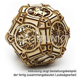 Laubsägevorlage Sternzeichen-Dodekaeder