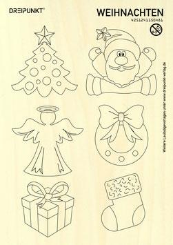 Laubsägevorlage Weihnachten