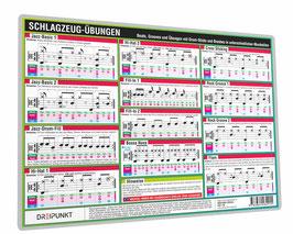Schlagzeug Info-Tafel-Set