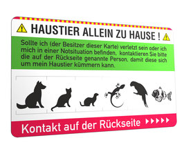 Notfallkarte Haustier