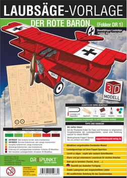 Laubsägevorlage Der Rote Baron (Dreidecker Fokker DR 1)