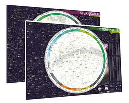 Sternkarten-Set (Nord- und Südhimmel)
