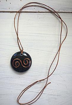 Moss Agate lemniscate pendant