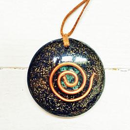 Moss agate vortex pendant