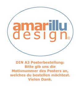 4  DIN A3 Poster (4 gleiche oder 4 unterschiedliche Motive)