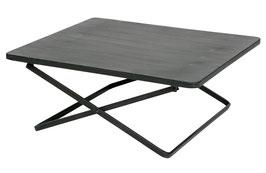 Crux L Sidetable Metall schwarz 76x70