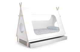 Tipi-Bett Schublade weiß