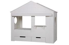 Hausbett weiß ohne Schubladen (FSC)