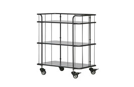 Caro Metall Trolley mit Holzregal tief
