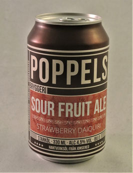 Poppels Strawberry Daiquiri Sour Fruit Ale