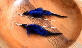Boucles d'oreilles plumes Kishy - Ethnic Feather - Bijoux ethniques - Bijoux indiens -