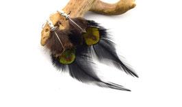 Boucles d'oreilles plumes Abeytu - Ethnic Feather - Bijoux ethniques - Bijoux indiens - Boho - plumes de paon